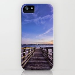 Walkway to the Relaxing Blue iPhone Case
