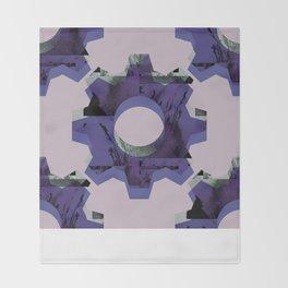 IMPROBABLE GREASE REEL blue Throw Blanket