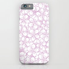 Cherry Blossom Pink Outline - In Memory of Mackenzie Slim Case iPhone 6
