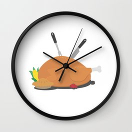 Thanksgiving table decoration Wall Clock