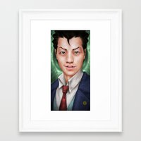ace attorney Framed Art Prints featuring Ace Attorney by Cat Allen