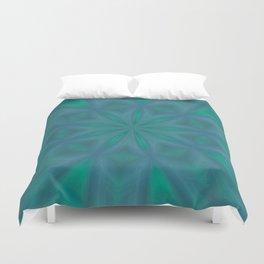 Aurora In Jade and Blue Duvet Cover