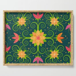 Nordic Traditional Floral (pattern) Serving Tray