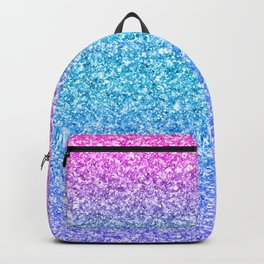 Modern colorful glitter texture print Backpack