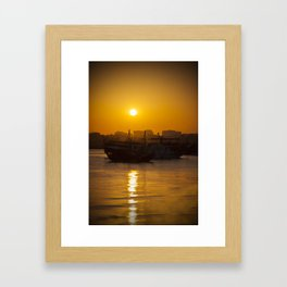 Doha Sunset Framed Art Print
