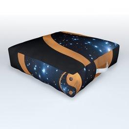 Yin Yang Full Moon and stars Outdoor Floor Cushion