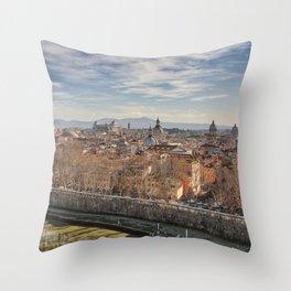 Rome Skyline Throw Pillow