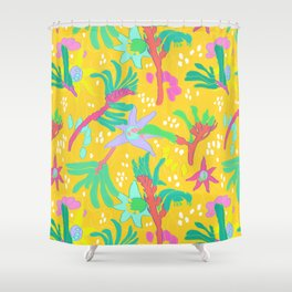 Australian Kangaroo Paw Floral in Golden Mango Shower Curtain