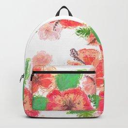 Hawaiian Hibicus Pastel Colors Backpack