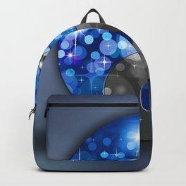 YIN & YANG Stars in blue black Backpack