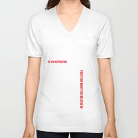 motivation V-neck T-shirts featuring MOTIVATION by Cindy Lepage