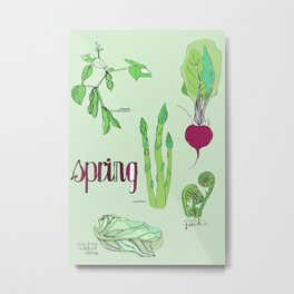 Fresh from the Farmers Market: Spring Metal Print