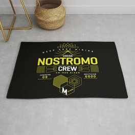 Deep Mining Crew / Nostromo / Alien / Science Fiction / Horror / Typography Rug
