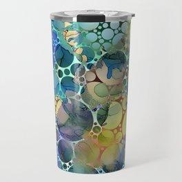 Dots on Painted Background 3 Travel Mug