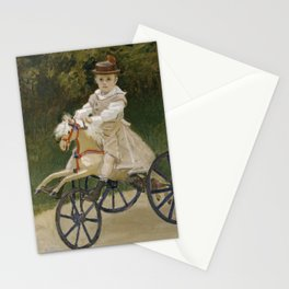 Jean Monet on his Hobby Horse Stationery Cards