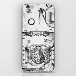 Mother Brain Super Metroid Engraving Scene iPhone Skin