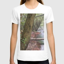 Mountains River. Foggy Morning. Sierra Nevada T-shirt