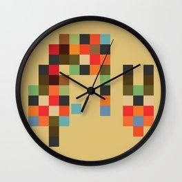 Mid Century Textile Series 1_2 Wall Clock