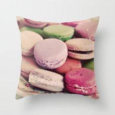 Sweet Macarons Throw Pillow