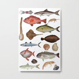 Fish_Poster_02 Metal Print
