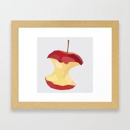 Geo Apple Core Framed Art Print