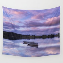 Purple Boats Wall Tapestry