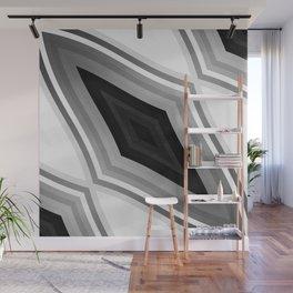 stripes wave pattern 6v3 bwbf Wall Mural