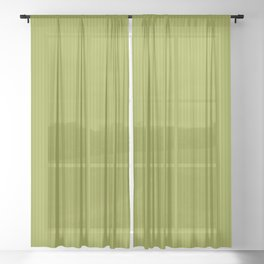 Soft Chartreuse Stripes Sheer Curtain