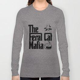 The Feral Cat Mafia (BLACK printing on light background) Long Sleeve T-shirt