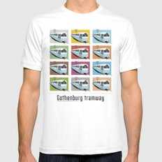 Gothenburg tramway White Mens Fitted Tee MEDIUM