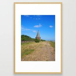 Sunlit Coastal Path Framed Art Print