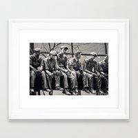 30 rock Framed Art Prints featuring Lunch Break 30 Rock by Debbie Wibowo