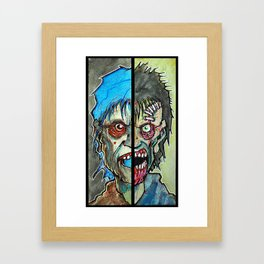 Two Half Zombie Framed Art Print
