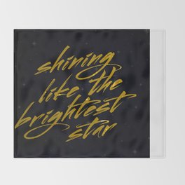 Shining Like The Brightest Star Throw Blanket