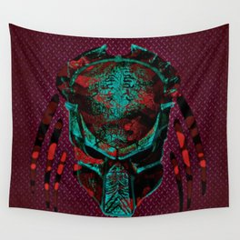 Soldier Predator Red Teal Wall Tapestry