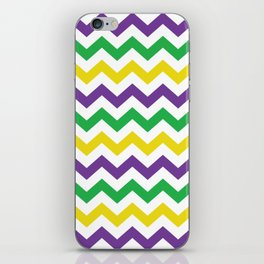New Orleans Mardi Gras Chevron Purple Green Gold #society6 iPhone Skin