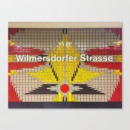 Berlin U-Bahn Memories - Wilmersdorfer Strasse Canvas Print
