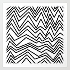 Graphic_Chevron freehand Art Print