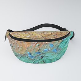 Wheat Field with Cypresses Brush Detail by Vincent van Gogh Fanny Pack