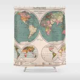 Vintage Map of The World (1921) Shower Curtain