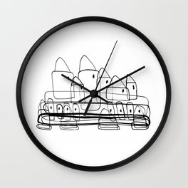 Little Village for Kids Wall Clock