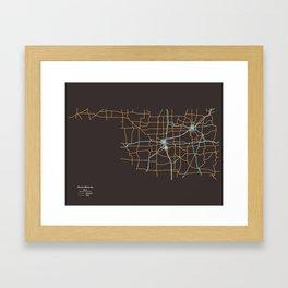 Oklahoma Highways Framed Art Print
