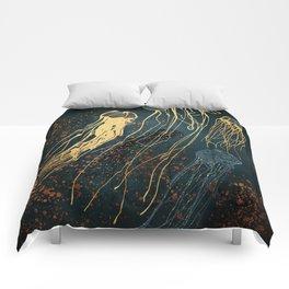 Metallic Jellyfish Comforters