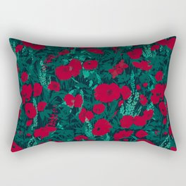 Poppies in the Dark Rectangular Pillow