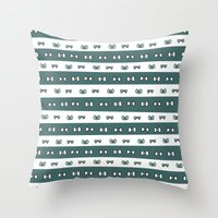 haikyuu Throw Pillows featuring Haikyuu!! Date Tech Bows by InkyThoughts