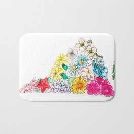 Hand Painted Virginia State Map Bath Mat