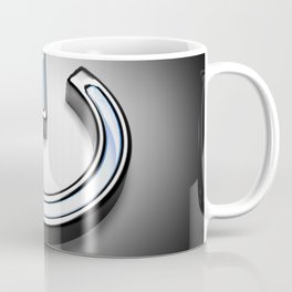 Start symbol for technology with blue light - 3D rendering Coffee Mug