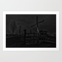 Ghost Ship in Black and White - Art Photography Art Print