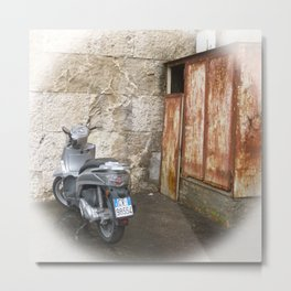 Scooter vignette effect Metal Print