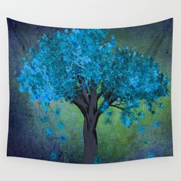 TREE OF BLUE Wall Tapestry